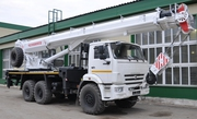 Автомобильный кран г/п 25 тонн длина трелы 32, 7 метра КС-55732