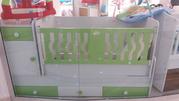 детская кровать,  белая,  ортопедический матрац,  новая.цена 1000 манат