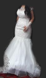 Свадебные платья белые и розовое