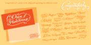 Шрифт «Congratulatory» / 36 поздравительных каллиграфических надписей